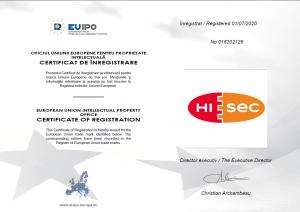 HiSeclépcsőházi biztonsági ajtó Védjegy az Europai Unio területére