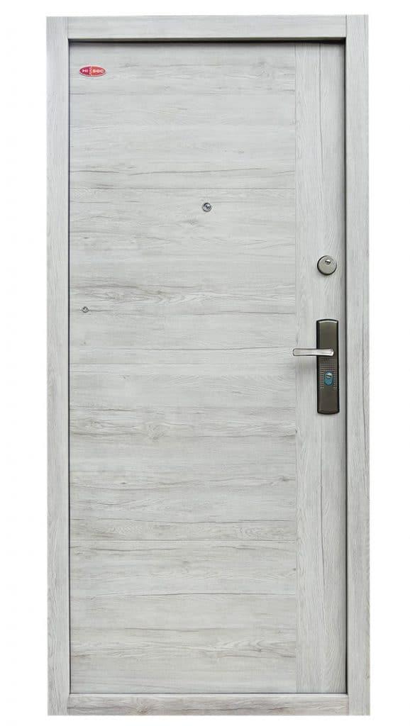 Havastölgy Modern selyemfényű acél HiSec biztonsági bejárati ajtó